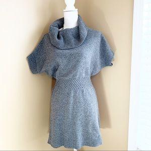 YA Los Angeles Sweater Dress Gray Dolman wool Med